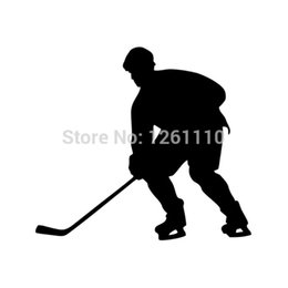 Wholesale High Quality Carbon Fiber Vinyl - HotMeiNi Wholesale 20pcs lot Sports Ice Hockey Player Vinyl Decal HIGH QUALITY Reflective for Snowboard Snow Board Car Truck SUV Bumper