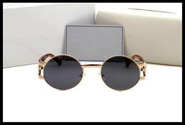 Wholesale Head Goggles - new head of European and American popular logo retro sunglasses men and women sunglasses metal glasses manufacturer promotion
