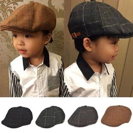 Baby boy hats striped beret newborn photography props spring new arrived baby  cap photo props 1-3 years 6ad03b76d8f5