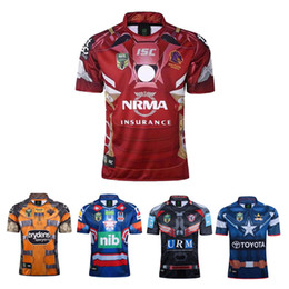 Wholesale Flash Suits - 2017 NRL Marvel Heroes 3 Superhero jerseys Broncos , the Knights, Cowboys, Tigers Rugby suit Size S-3XL Free shipping good qualit