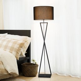 Wholesale Floor Lamps Retro - Living room floor lamp bedroom modern remote control new modern personality sofa retro vertical lamp
