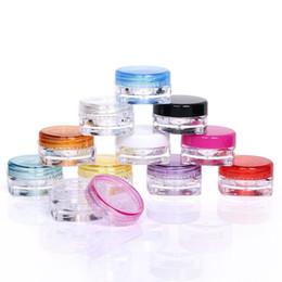 3 g topf Rabatt Kunststoff quadratische Form 3g 5g Mini Reise kosmetische Gläser nachfüllbar Make-up Creme Lidschatten Lippenbalsam Nagel Kunst Probe Vorratsbehälter Flasche Topf