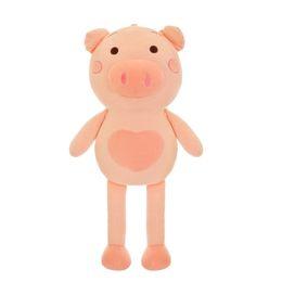 Grandi bambole di maiale ripiene online-60-110cm Pink Pig Peluche ripiene Toy Cute Piggy Dolls per ragazze Big Pig Peluche Soft Style coreano New Hot Bambole grandi