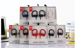 Canada Universal Bluetooth Écouteurs Casque Stéréo Basse Casque Sport Écouteurs Oreille Crochet Écouteurs G5 Marque Power 3 Sans Fil Avec Mic DHL Gratuit Offre