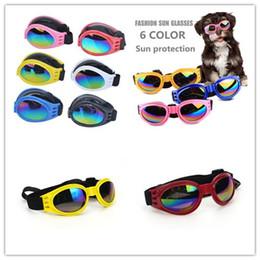 Защитные очки для собак онлайн-Мода собака очки складные солнцезащитные очки Средний Большой собака очки водонепроницаемый Очки защитные очки УФ солнцезащитные очки Зоотовары Бесплатная доставка