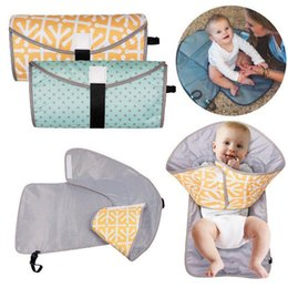 Wholesale nappy changing mats - Multifunction Baby Diaper Changing Pads Mats Foldable infant Nappy Changing Mat Travel Changing Station C4771