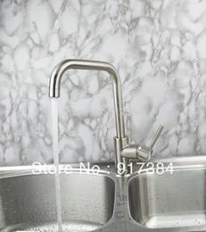 Wholesale Vanity Contemporary - Brass Kitchen Basin Faucet Swivel 360 Spout Vanity Mixer Tap Single Handle JN92325
