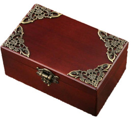 Wholesale marriage music - Vintage jewelry box music box of classical wooden box with creative gifts.