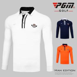 PGM осень и зима одежда для гольфа мужская футболка с длинными рукавами ветрозащитный теплая одежда для гольфа мужские дышащие удобные рубашки от Поставщики оптовый торговец теплой курткой