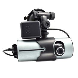 Автомобиль dvr двойной gps ночь онлайн-X3000 высокой четкости двойной объектив GPS модуль вождения рекордер автомобиля DVR камеры ночного видения вождения видеорегистратор заднего вида камеры