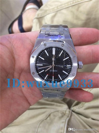 Wholesale Sapphire Royal - New Hot high-quality luxury brand ROYAL OAK OFFSHORE18K gold case steel strap black hollow dial automatic mechanical men's watc