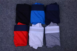 Wholesale boxers shorts - 2018 100% Brand Mens Boxer Shorts Mens Sexy Underwear White And Red Line Fashion Designer Breathable Elastic BoxerUnder Panties For Man
