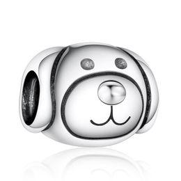 4090004b14bb Se adapta a las pulseras Pandora Vintage Friendly Dog Charm Beads Original  925 Sterling Silver Dog Animal Bead Diy 2016 Summer Fine Jewelry HB318