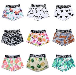 Wholesale Boys Swim Pants - boys shorts summer boy beach shorts kids swimming pant fruit watermelon pineapple leaf flower full printing infant toddler clothing