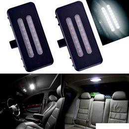 lâmpadas de luzes led vermelhas Desconto Universal 1 Par 12 V Espelho de Vaidade Viseira LED Lâmpada de Luz para BMW E60 E90 E70 E70 E71 E84 F25 Erro Livre 6000 K