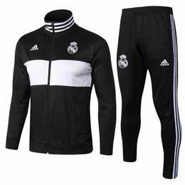 Tailândia Qualidade nova 18 19 temporada casa real Madrid Sportswear jaqueta de treinamento 2018 2019 em casa longe MOKRIC camisa de futebol jersey terno de treinamento cheap real housing de Fornecedores de habitação real