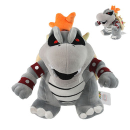 Wholesale gray mario - 25CM Super Mario Brother Plush Doll Dry Bowser Bones Koopa Plush Doll Toys Children Stuffed Animals Toys Child Gifts Party Favor AAA274