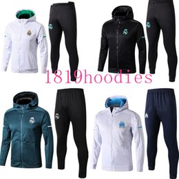 Wholesale mixed hoodies - 2018 JACKET Training survetement HOODIEs KITS outfits TRACKsuits Soccer Jersey Ronaldo ASENSIO Football SERGIO RAMOS MIX free shipping