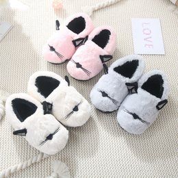 crust shoes Coupons - children's cotton slippers winter bag with home fur thick crust cute non-slip baby warm cotton shoes