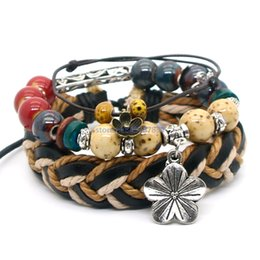 Wholesale noble women costumes - Fashion handmade jewelry 8-10 inch costume charm bracelets Ceramic multicolor bead+Stainless steel accessories Give women noble taste