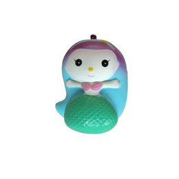 Wholesale gadget new - Fidget PU Mermaid Squishy toys 2018 New Slow rebound squishy Simulation Funny Gadget Vent Decompression toy 7x9.5x5.5cm B