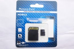 Wholesale memory card retail - new version DHL 32GB 64GB 128GB Micro TF Memory Card Class 10 With Adapter Class 10 TF Memory Cards with Free SD Adapter Retail Package