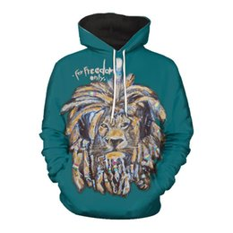 printed hoody for men Promo Codes - For Freedom Only Printed Hoodies for Men Women Autumn Winter Cool Animal Sweatshirts Hoody Plus Size 5XL Casual Coats