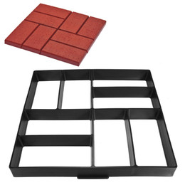 Wholesale garden cement - 40*40*4cm DIY Plastic Path Maker Mold Manually Paving Cement Brick Molds The Stone Road Auxiliary Tools For Garden Decor