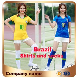 Wholesale ladies short sleeve shirts - 2018 New Top World Cup Women Soccer Jersey Home away #10 Footballer #11 P.coutinho Ladies Short Sleeve Football Shirt Uniform Sales
