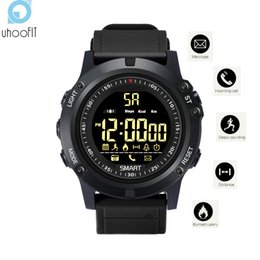 Smart watches for boys online-Venta al por mayor Fitness Tracker Digital Sports Bluetooth Smart Watch Podómetro Recordatorio de mensaje de llamada Smartwatch Men Boys para IOS Android