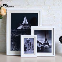 Wholesale Vintage Picture Frames Wholesale - 1Pcs Solid Color Photo Frames Home Decor Vintage Desktop Picture Frames For Pictures High Quality Frame Birthday Gifts F