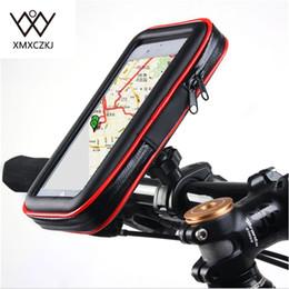 Su geçirmez Kılıf ile bisiklet Bisiklet Motosiklet Tutucu Çanta Gidon Montaj telefon Tutucular iPhone Samsung Note3 Için Standı / 4/5 GPS supplier waterproof bicycle phone holder nereden su geçirmez bisiklet telefonu tutacağı tedarikçiler