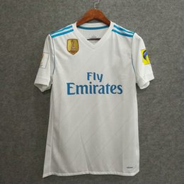 Wholesale Authentic Shorts - ^_^ Wholesale club world cup 2017 champion madrid home player version authentic slim fit AAA quality adizero soccer jerseys custom rondldo
