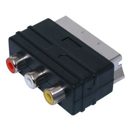 Adaptador de enchufe SCART Adaptador de adaptador SCART macho a 3RCA AV Hembra con video compuesto Audio izquierdo y derecho desde fabricantes