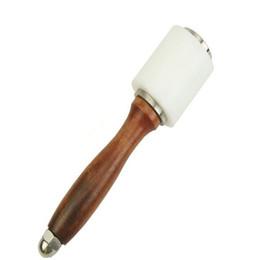 Outils de timbre en cuir en Ligne-Marteau de métier en cuir Marteau Cutter Outils de poinçon marteau PE en bois bricolage