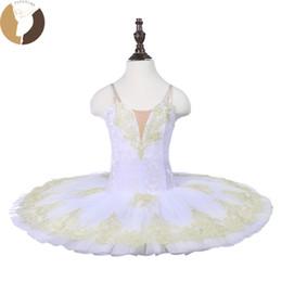 Canada Fltoture CT18070 Enfant Crêpe De Ballet Tutu 7 Couches Dur Tulle Jupe Tutus Tissu De Velours Blanc Cygne Costumes De Scène Sur Mesure supplier white fabric skirts Offre
