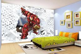Canada papier peint personnalisé photo 3D stéréo Iron Man TV toile de fond papier peint pour murs 3 d pour salon Offre