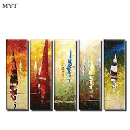 Wholesale Canvas Paints For Sale - MYT Hot Sale Canvas oil paintings modern abstract color painting wall Art pictures for living room home decor quadros cuadros decoracion