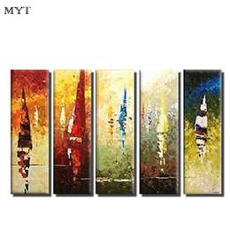 2019 pinturas abstratas da lona para venda MYT Hot Sale Canvas pinturas a óleo moderna pintura abstrata da cor da parede de Arte pictures para sala de estar decoração de casa quadros cuadros decoracion pinturas abstratas da lona para venda barato
