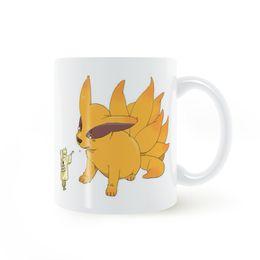 red coffee mug ceramic UK - Anime NARUTO Q Version Kyuubi Mug Coffee Milk Ceramic Cup Creative DIY Gifts Home Decor Mugs 11oz T344