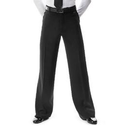 2019 pantalones de baile para hombre 2018 nuevos hombres de la llegada Jazz / pantalones de baile latino pantalones negro mens pantalones de baile de salón desgaste práctica / rendimiento 2 modelos pantalones de baile para hombre baratos