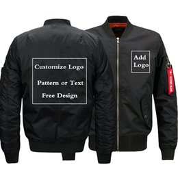 d238e5d151bd2 Dropshipping USA SIZE Free Design Customize Logo Men Bomber Jacket for Men s  Jackets Flying Jacket Winter thicken Men Coats D18100806