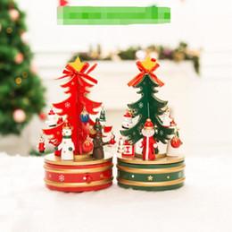 Musique de cloche de noël en Ligne-Date de vente chaude 2018 Cloche de musique renouvelable en bois de Noël, ornements d'arbre de cadeaux de Noël créatifs, décorations de Noël.