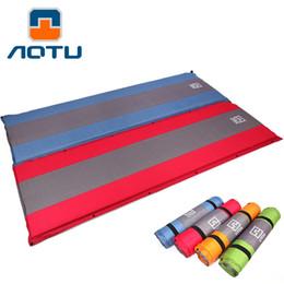 2019 konvexes kissen AUTO im freien selbstaufblasbare schlafmatte spleißen camping zelt matte feuchtigkeitsfest wandern 4 farben 420