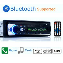 Wholesale Bluetooth Autoradio - Autoradio Car Radio 12V Bluetooth V2.0 JSD520 Car Stereo In-dash 1 Din FM Aux Input Receiver USB MP3 MMC WMA ISO Connector