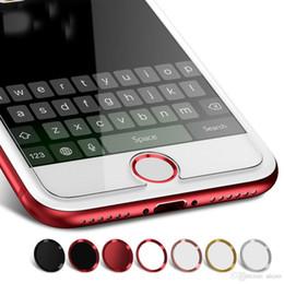 Bouton d'accueil autocollant iphone ipad en Ligne-Autocollant Bouton de maison universel pour iPhone 8 7 6 Plus 5S 5SE empreinte digitale, touche d'identification tactile, protection, autocollants, pour, iPad, air, 2 pro, mini 4, sac op