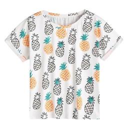 260f693f321 2018 Fashion Summer T Shirts Women Casual Pineapple Print O-Neck Short  Sleeve High Quality Plain round neck T-shirt Plus Size XL