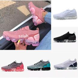 Zapatos casuales mujer cremalleras online-Nike vapormax air max 2018 2.0 zapatos casuales negro blanco Hombres y mujeres de malla de moda transpirable Casual FK bajo AA3831 zapatilla con cierre de cremallera 36-45