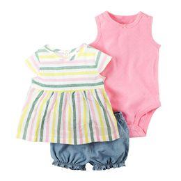 cc507500f Discount newborn baby boy dresses - 2018 Summer bebes baby girl clothes set  dresses roupa infantil