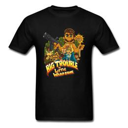 Argentina Gran problema en Little Warpzone camiseta Camiseta de jugador 80s camiseta Hombre camisetas Tops de algodón ropa de fitness juego de pistolero cheap trouble game Suministro